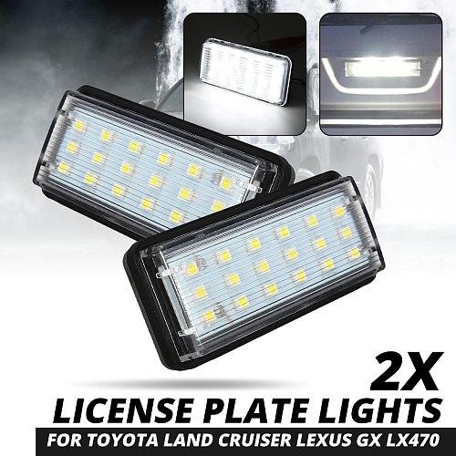 Pair Error Free LED Car Number License Plate Light For Toyota Land Cruiser 120 Land Cruiser 200 Prado 200 for Lexus LX470 GX470