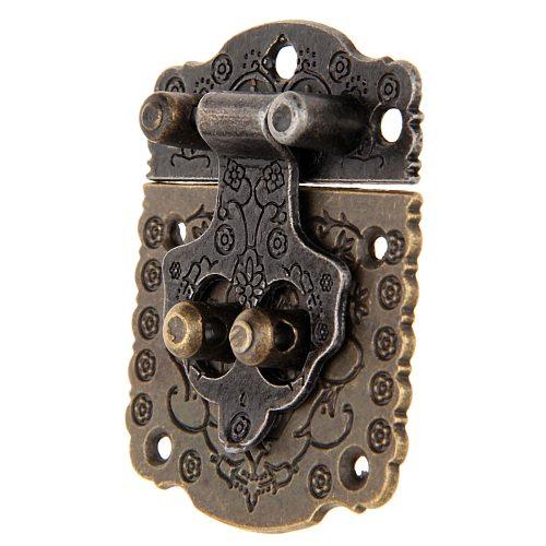 1PC 53*41mm Antique Bronze Box Latch Hasp Retro Vintage Decorative Latch Wooden Jewelry Box Hasp Pad Chest Lock