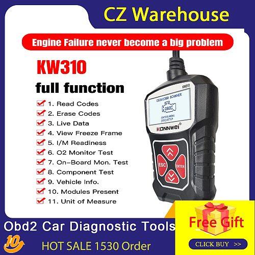 KONNWEI KW310 Obd2 Car Diagnostic Tools Automotive Scanner OBD 2 Engine Analyzer Code Reader Vehicle CAN Obdii Scan Tool tester