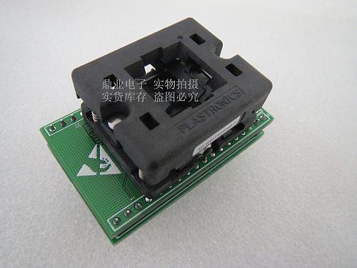 Opentop VQFN28 QFN28/DIP ATMEGA328P-MMH IC Burning seat Adapter testing seat Test Socket test bench  in the stock free shipping