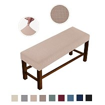Soft Stretch Dining Room Spandex Elastic Chair Bench Covers Slipcover Seat Protector for Living Room Dining Room Bedroom