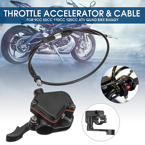 For 9cc 50cc 110cc 125cc ATV Quad Bike Buggy Thumb Throttle Accelerator & Lever Controller Throttle Wire Cable Assembly
