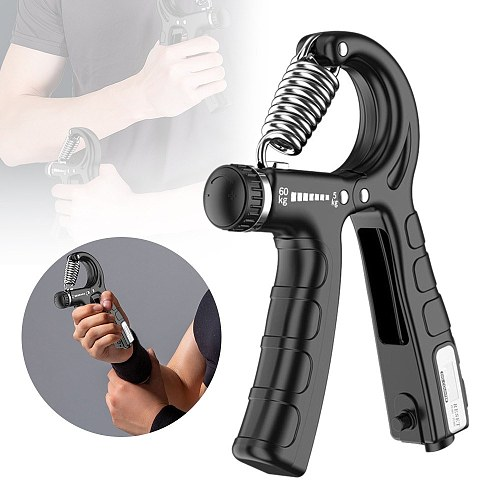 Hand Gripper Adjustable Resistance Hand Grip Strength Trainer Fingers Wrist Forearm Exerciser Workout Gear Home Gym Exercise