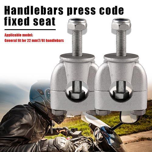 Durable 7/8 22mm Motorcycle Handle Bar Risers Wear-resistant Solid Color Dirt Pit Bike Motorbike Handlebar Clamps
