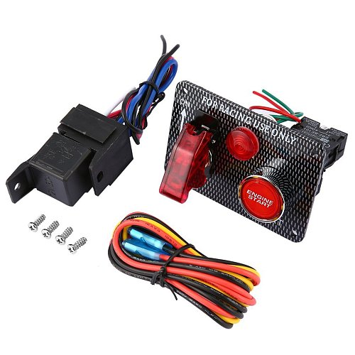 Car 12V Switch Ignition Engine Panel Switching Start Push Racing Car Button 2/4/5 Toggle