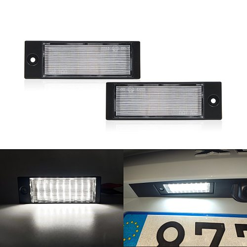2x Fits For Kia Forte Seden 2019- XCeed 2019 2020 2021 White Canbus SMD Rear Led License Plate Lights Lamp