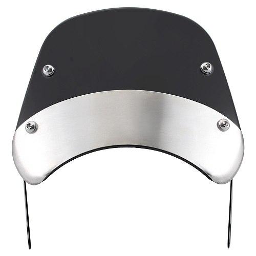 Universal 3colors Motorcycle 6.5 -9.45  Headlight Windshield Wind Deflector Cover Windscreen for Harley Honda Kawasaki Suzuki