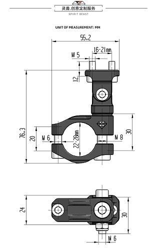 Motorcycle Spotlight Holder Headlight Bracket for Suzuki Vstrom Honda NC750 Benelli Kawasaki Versys KLR650 Yamaha TENERE KTM ADV