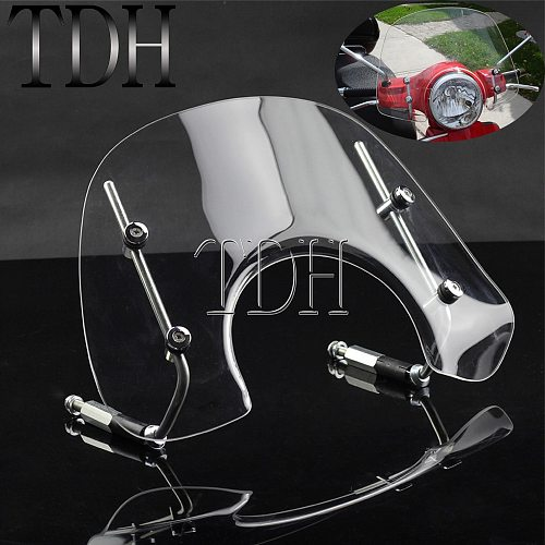Transparent Motorcycle Windshield Wind Deflector Windscreen For Vespa LX150 LX50 2005-2014 Clear Air Deflector With Bracket