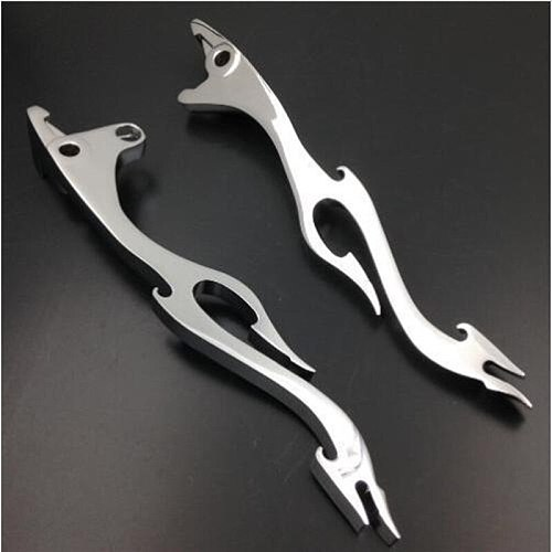 Pair Motorcycle Chrome Brake Clutch Flame levers For Kawasaki Vulcan 1500 1987-2008 Vulcan 1600 2003-2009