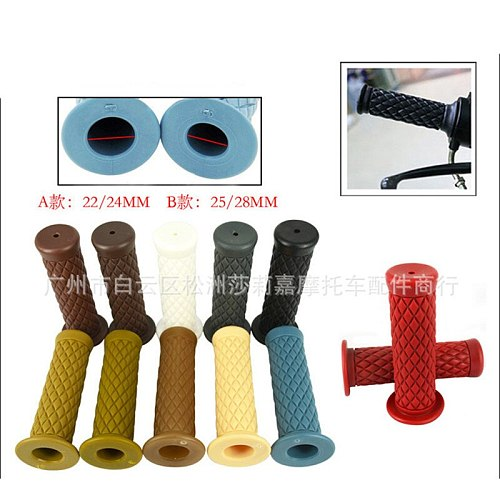 9 color classic vintage scooter hand grips cafe racer motorcycle handle bar for harley grip moto accessories motorbike handlebar