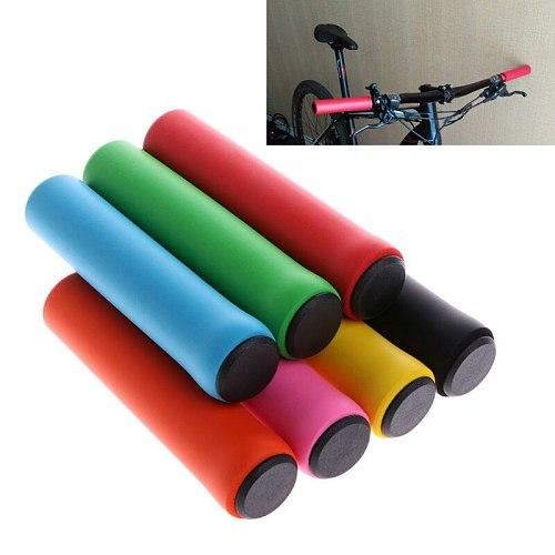 2Pcs Super Soft Bicycle Handle Bar Grips Cycling Bike Grips Silicone Anti-slip Handlebar Anti-skid shock-absorbing Dropshipping