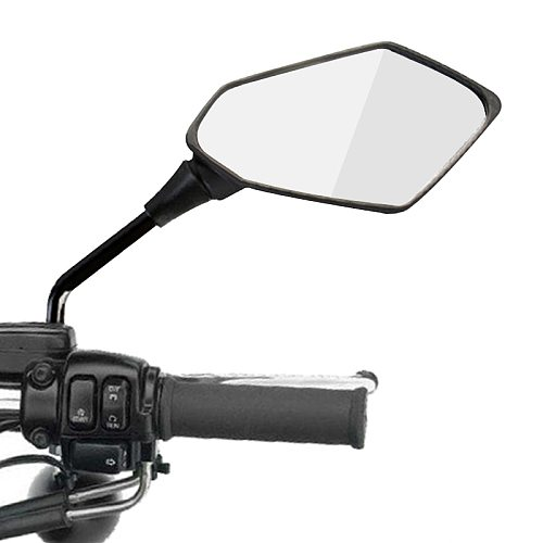 2Pcs/Pair Motorcycle Rearview Mirror Scooter E-Bike Rear View Mirrors Back Side Convex Mirror 8mm 10mm