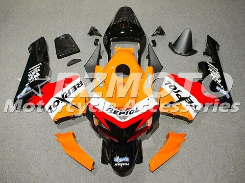 New ABS Injection Full Fairing kit Fit For Honda CBR600RR F5 2005 2006 05 06 600RR 600 Whole set red orange repsol Cool