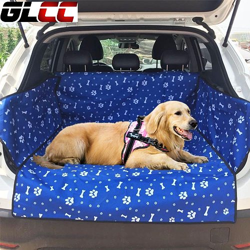GLCC Dog Car Seat Cover Waterproof Oxford Fabric Car Trunk Mat  Car Seat Mat Covers Back Bench Pad Pet Dog Carriers