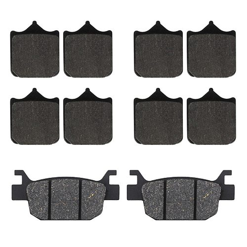 Motorcycle front and rear brake pads for Benelli TRK502 TRK502X TRK 502 Leoncino 500 BJ500 BJ500GS-A BJ 500