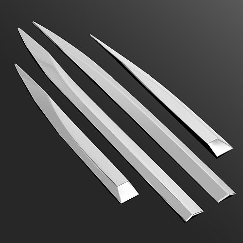4pcs/Set Door Body Chrome Side Molding Protector Trim Stainless Steel Sticker Strips For Peugeot 3008 4008 2016-2018 Car Styling