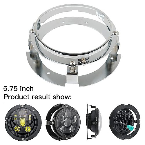 5.75 Inch Black Silver Adapter Mounting Ring Bracket Round LED Headlight For Halo Fit For Jeep Motorcycle Accessories