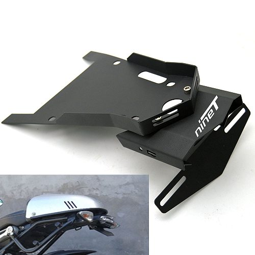 Tail Mount License Plate Bracket w/ Brake Rear Lamp Taillight For BMW R NINE T 2015 2016 2017 Steel Alloy Motorbike Parts