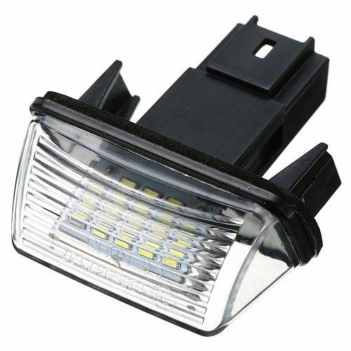 1pcs 18LED License Plate Light Lamp 12V 6500K License Plate Light For Peugeot 206/207/307/308 For Citroen C3/C4/C5/C6