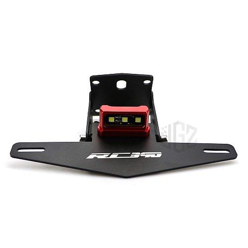 Motorcycle Adjustable License Number Plate Holder Mount Tail Rear Bracket for KTM RC 390 2013 2014 2015 2016 2017 2018 2019 2020