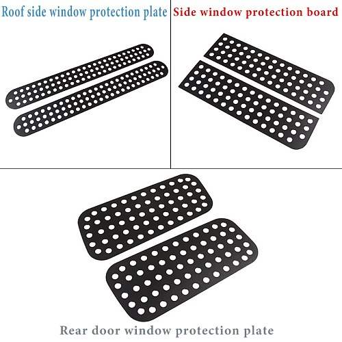 Aluminum Alloy Black Car Rear Door Roof Side Window Glass Protective Plate Cover For Land Rover Defender 90 110 130 Accessories