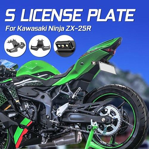 Motorcycle Tail Tidy Fender Eliminator License Plate Holder Bracket LED Light For Kawasaki Ninja ZX25R ZX 25R 2020 2021 ZX-25R