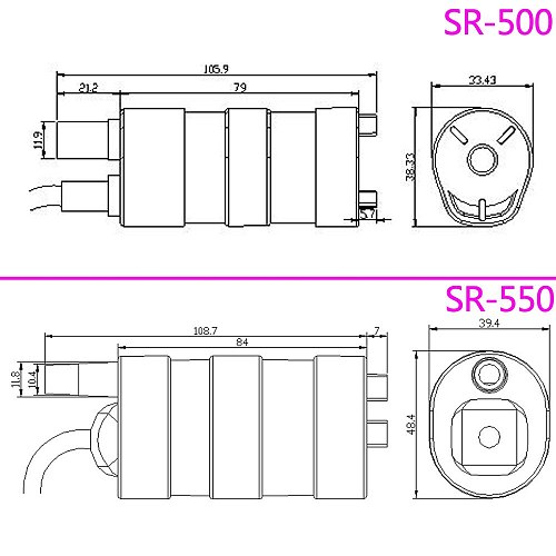 High lift 5M 12V 24V high pressure DC submersible pump 600L / H 1000L / H micro motor straight slotted cutting rhinestone pump