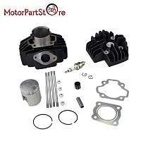 Cylinder Piston Kit For Yamaha PW50 QT50 60cc QT60 PW60 YF60S Big Bore With Rings Gasket Spark Plug