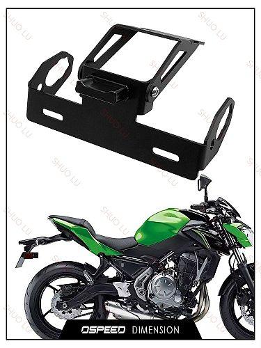 For Kawasaki Z650 Ninja 650 Ninja650 2017 2018 2019 2020 Motorcycle LED Light Rear License Number Plate Frame Holder Bracket