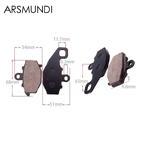 1 Set Motorcycle High Quality Brake Pads Disks Shoes Front And Rear For KAWASAKI 1000 ZX-10R Zx-10r ZX10R 2005 2006 2004 - 2007