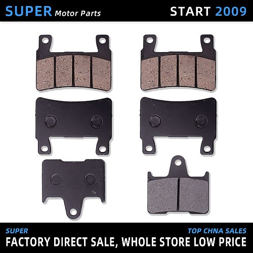 1 Set Motorcycle Front And Rear High Quality Brake Pads Disks Shoes For Honda CB400 VTEC 400 I II 1999 2000 2001 2003 2004 99-04