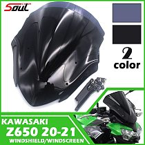 Motorcycle Sports Windshield Visor WindScreen Viser Fits For KAWASAKI Z650 2020 2021 Double Bubble
