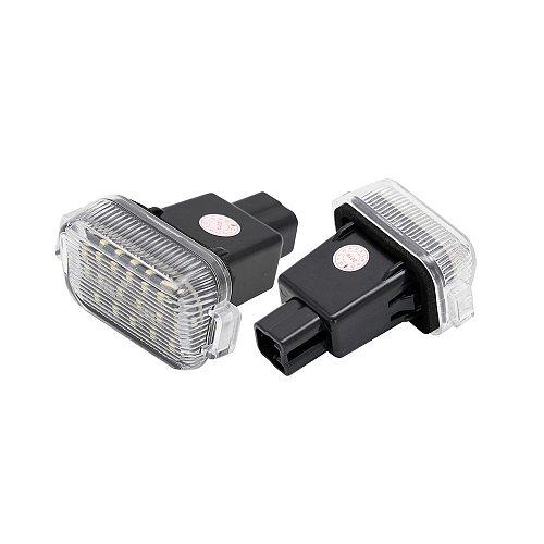 2Pcs Error Free White LED License Plate Light Number Plate Lamp For Mazda A/T (Aka Mazda 6) 2014 2015 2016 2017