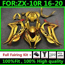 New ABS Injection Full Fairings For Kawasaki ZX-10R ZX10R 2016 - 2020 16 17 18 19 20 Motorcycle Bodywork Fairing Kits gold red