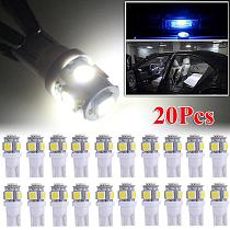 20 PCS T10 LED License Plate Car Interior Lights Bulbs 6000K White 168 2825 194 W5W Long Lasting Led Lamp 50000 Hour Signal Lamp