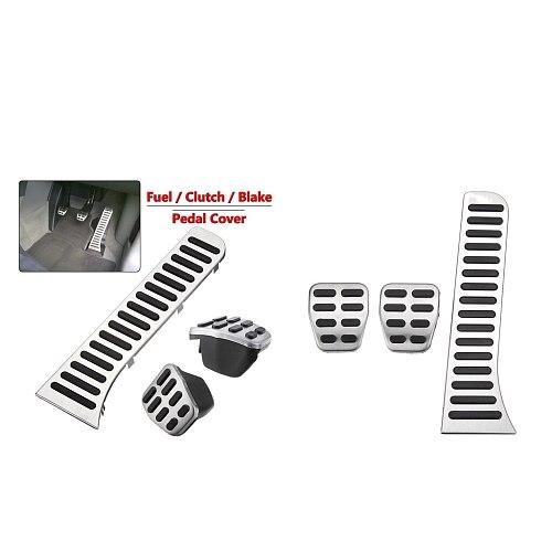 2 Sets MT Car Pedal  Brake Clutch Footrests Cover For JETTA MK5 MK6