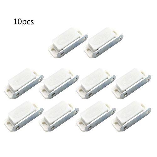 10Pcs Mini Plastic Cabinet Magnetic Catch Lock Latch Door Shutter Stopper Damper for Home Kitchen Furniture Hardware