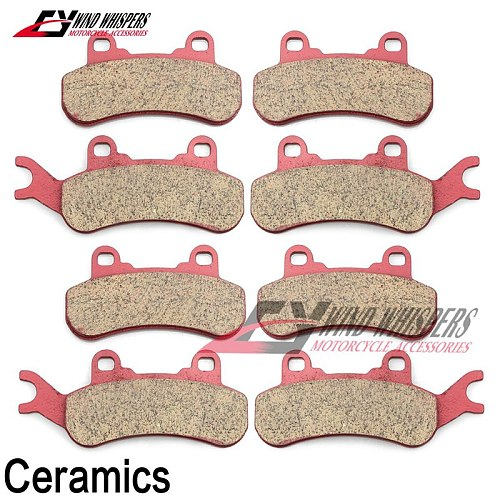 Motorcycle Ceramic Front Rear Brake Pads For CAN-AM Maverick X3 Max Turbo R 2017 2018 2019