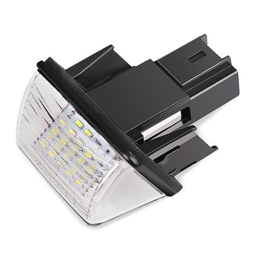 2pcs Error Free LED License Number Plate Lights Lamp Bright White For Peugeot 206 207 306 307 406 407 For Citroen C3 C4 Picasso