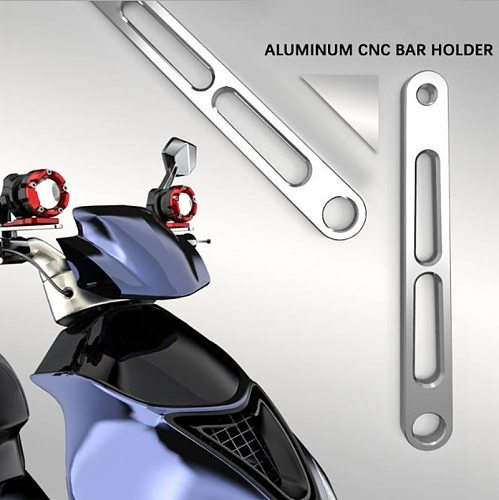 Motorcycle Auxiliary Headlight Support Bracket Lighting Base Modification Spotlight Frame Motorbike Stand Accessories