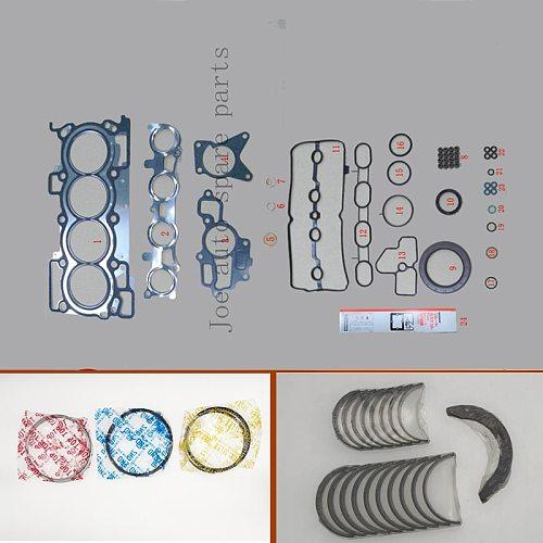 MR20DE Engine Full gasket set kit crankshaft connecting rod bearing piston ring for Nissan DUALIS X-TRAIL SENTRA 1997cc 2.0L