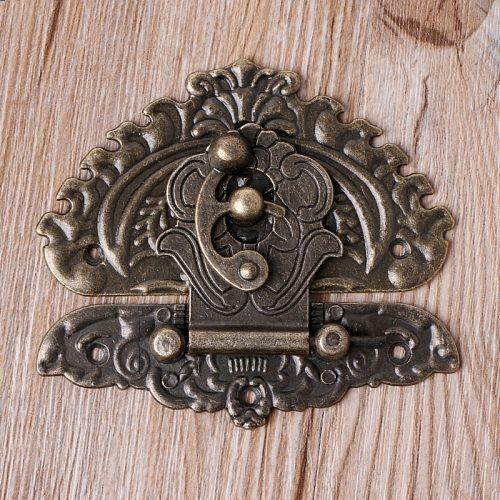 Vintage Retro Style Decorative Hasp Toggle Suitcase Box Lock Hook Latch Buckles