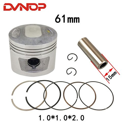 Motorcycle 61 mm Piston 15mm Pin Ring Gasket Set For  WY145 CB145 WH145 JL145 145cc 150cc Egine Spare Parts