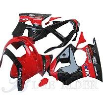 Full Fairing Kits for Kawasaki ZX9R 1998 1999 Ninja 98 99 Red Black ABS Plastic Bodywork Fairings Set Motorcycle Accessories