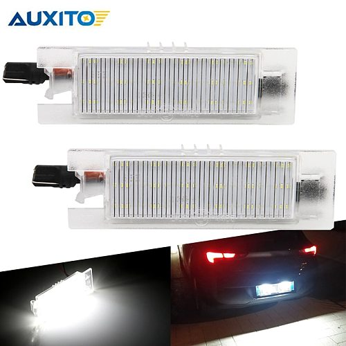 2pcs CANBUS LED License Number Lamps Plate Lights for Opel Astra H J Corsa C D Insignia Tigra B Twintop Vectra C Zafira B OPC