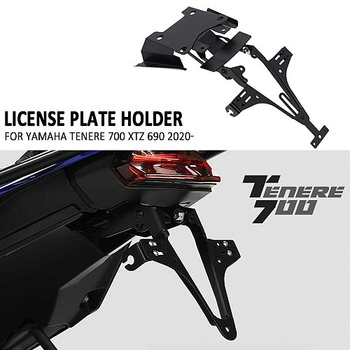 NEW Motorcycle Rear License Number Plate Holder Bracket For Yamaha Tenere 700 Tenere700 2020 2021