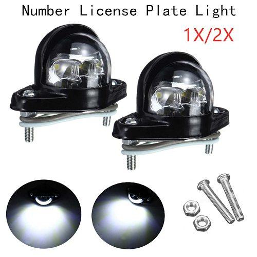High Quality White Bright Ligh Metal Iron Universal Number Plate License Light 6 LED Lamp 12V 24V For Trailer Truck Caravan Vans