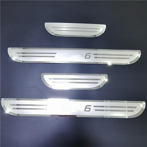 For Mazda 6 2015 2016 2017 2018 2019 2020 Door Sill Scuff Plate Protectors Welcome Kick Pedal Bars Cover Styling Car Accessories