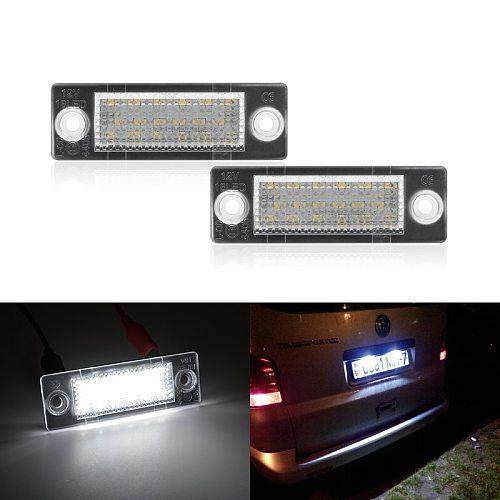 Led License Plate Light For VW Caddy 3 Golf 5 Plus Jetta 5 Passat B5.5 B6 Wagon Touran Transporter T5 Car-Styling Led Bulbs
